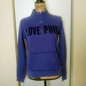 PINK Victoria's Secret Purple 1/4 Zip Small